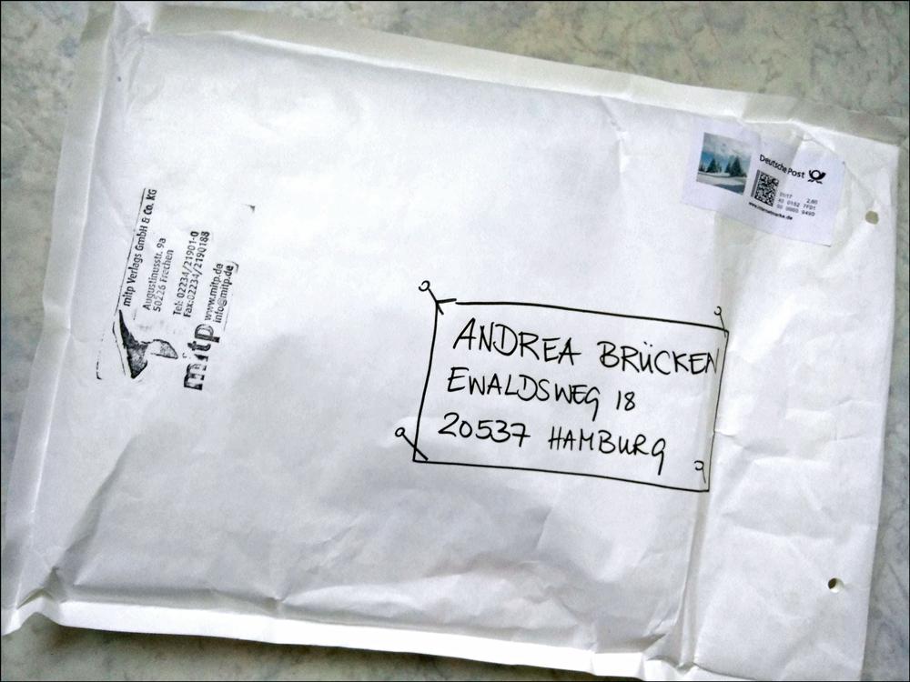 Umschlag mit schöner Zeichnung